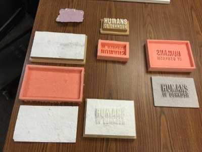 Molds for the humans of Oshkosh plaque